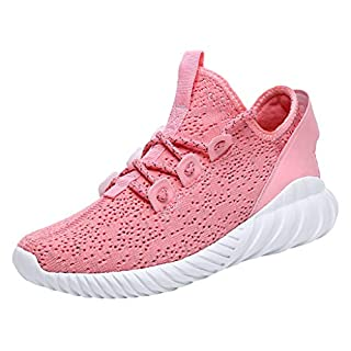 PRINCER Womens Mesh Go Running Trainers Athletic Walk Gym Shoes Sport Trainers Shock Absorbing Sneakers for Walking Gym Jogging Fitness Athletic Casual Pink