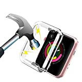 Aottom für Apple watch Serie 2 Hülle 42mm,iWatch Series 3 Bildschirmschutz Apple Watch Case Protective Bumper Cover Transparent Weiche Silikon iWatch Schutzhülle Schutz Case für Apple Watch Series 3/2