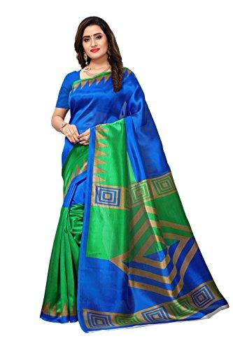 Mrinalika Fashion Art Silk Saree With Blouse Piece (Multi-Coloured_Sarees New Collection Aphalsp9807A_Free Size)