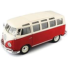 Maisto 31956  - Reproducción de VW Bus Samba (escala 1:25) (varios colores)