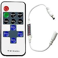 jindia Mini rf mando a distancia para tiras de LED monocromas, RF Regulador Controlador inalámbricas para todos los regulable 50503528LED Banda LED Tiras de Luz