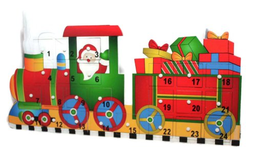 Wooden Advent Train Christmas Advent Calendar