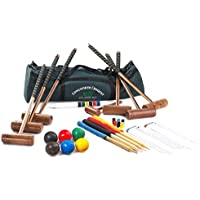 Longworth Croquet Set - 6 Player UPGRADED Full Sized Adult Croquet Set in a Canvas Carry Bag from Garden Games