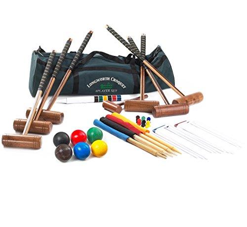 Preisvergleich Produktbild Garden Games 2125 - Longworth Familie Krocket Set für 6 Spieler in einer praktischen Tragetasche