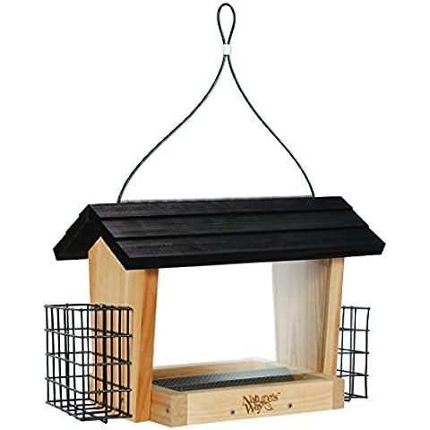 NATURES WAY BIRD PRODUCTS LLC - Cedar Hopper Bird Feeder With Suet, 6-Qt.