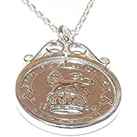 Cinch Pendant 1938 Lucky sixpence 80th Birthday plus a Sterling Silver 18in Chain zGnISS