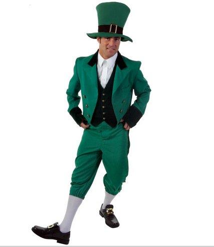 Gorgeous Rolle cos Halloween klassischen Irish tuxedo uniform Bühnenperformance aus Erwachsene Kinder ()