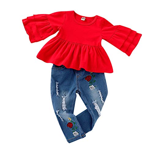 Baby Kleidung Jungen Herbst 0-6 Monate Set, Weant Neugeborenes Baby Mädchen Warm Hoodie T-Shirt Top + Hose Outfits Set Kleidung Set Strickjacken Sweatshirts Kleider für Mädchen -