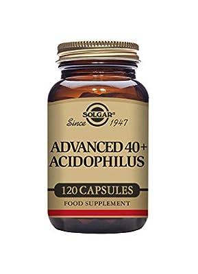 Solgar Advanced 40 Plus Acidophilus Vegetable Capsules - Pack of 120