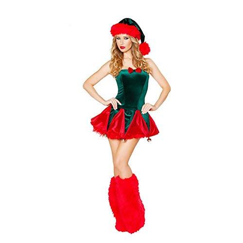 Olydmsky Cosplay Make-up Weihnachtskugel Weihnachten Elfen Kostüm Halloween Erwachsene verkleiden (Halloween Rentier-make-up Für)