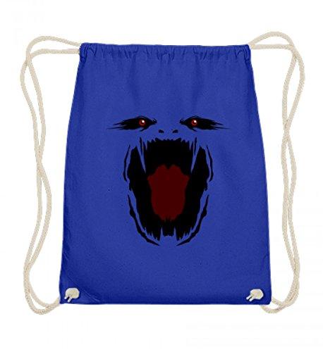 (Hochwertige Baumwoll Gymsac - Monster Gesicht Gruselig Halloween - Schlichtes Und Witziges Design)
