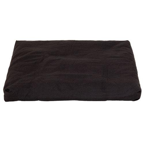 Coussin de méditation Zabuton BASIC 80x80cm, noyau constitué de plusieurs couches de coton non-tissé, housse amovible lavable à 40°C, sangle de transport, Zabuton disponible en différentes couleurs (noir)