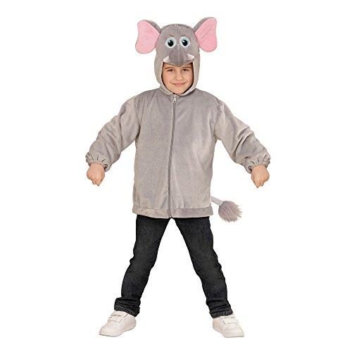 WIDMANN?Disfraz para niños Elefante de Peluche, Chaqueta con Capucha y máscara