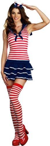 Windy Segel Kostüm-Medium (Größe (Pirate Queen Erwachsene Kostüme)