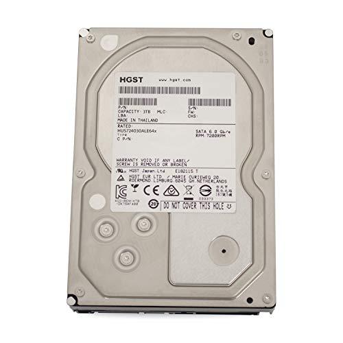 Hitachi HGST UltraStar 7K4000 3TB HUS724030ALE641 3,5' SATA3 64MB 7200RPM, RAID 24x7 ENTERPRISE (Zertifiziert und Generalberholt) -