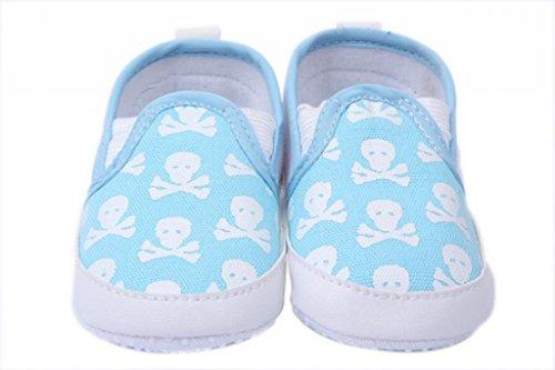 Smile YKK Skelett Bilder Babyschuh Baby-Unisex Lauflernschuhe 13 Pink Hellblau