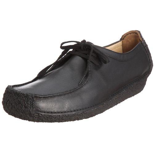 Clarks Originals Natalie 001111547, Herren Schnürhalbschuhe, Schwarz (Black Leather), EU 39.5
