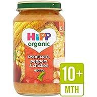Hipp Sweetcorn Organique, Poivrons Et Risotto De Poulet 220G - Paquet de 2