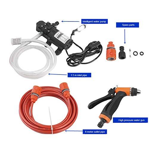 Ngls Elektrischer Tragbarer Hochdruckreiniger, 80W 12V Autowäsche-Kit, 0,8 MPa 6L / Min für Hausgarten, Autowaschmaschine Mpa-kit