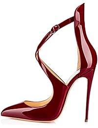 uBeauty - Escarpins Femme - Chaussures Cross laçage - Escarpins Grande Taille - Chaussures Stilettos
