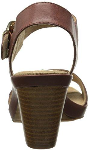 Bella Vita Jinny Femmes Large Cuir Sandales Compensés brown