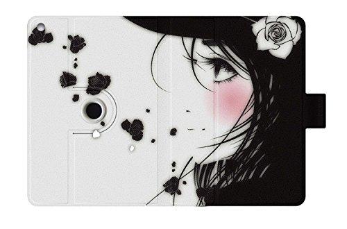 Luxburg® Rotation à 360? Degrés Etui Housse pour Apple iPad Mini / Retina en PU Cuir avec Fermeture Magnétique - Fille Manga