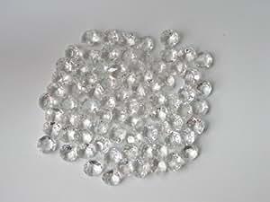 octogons 12mm - 50 pièces - cristal de bohème pour lustres où décoration