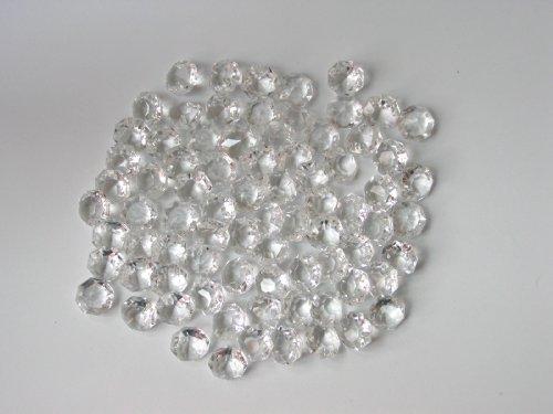 octogons 14mm - 100 pièces -cristal de bohème pour lustres où décoration