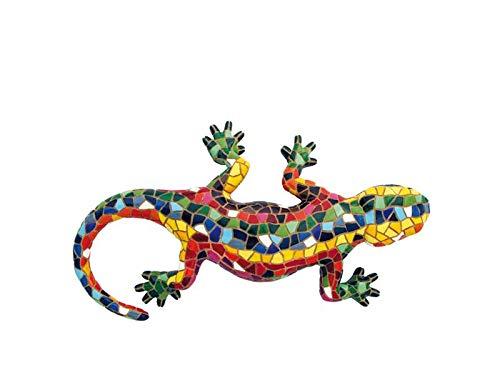 Reproducción en resina de la salamandra del Park Güell en Barcelona. Elaborada y pintada a mano.