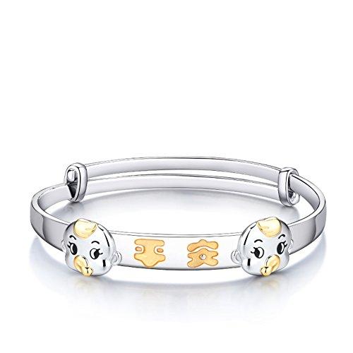 bracelet de sécurité/ Silver bijoux bébé/925 Platine plaqué bracelet argent/Bébé enfant cadeau d'anniversaire A