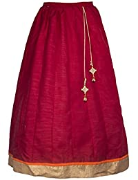 My Lil Princess Long Indian Traditional Ethnic Skirts Flared Skirts For Women