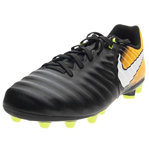 Kids' Nike Jr. Tiempo Ligera IV (AG-Pro) Fußballschuh Kunstrasen Kinder BLACK/WHITE-LASER ORANGE-VOLT (38,5)