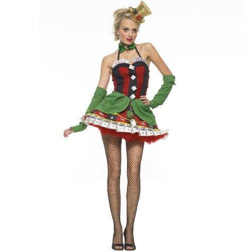 Glückspielerinnen-Kostüm für Damen - - Dame Spieler Kostüm