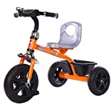 GoodLuck Baybee - Children Plug And Play Kids Tricycle Trike With Storage Bin Kid's For 2-5 Years Baby Tricycle Ride On Outdoor | Suitable Babies For Boys & Girls - (Orange)