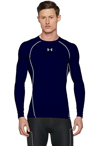 Under Armour Herren Funktionsshirt HeatGear Longsleeve, Midnight Navy/Steel, 3XL