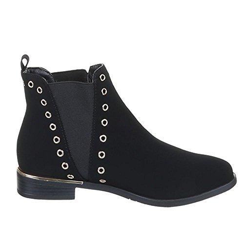 Damen Schuhe, 0-78, STIEFELETTEN Schwarz