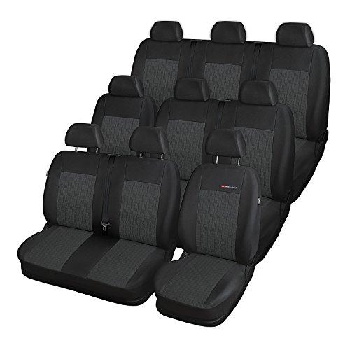 2er Sitzbank Sitzbezüge Kunstleder Hochwertig Grau für Mercedes Benz Opel VW