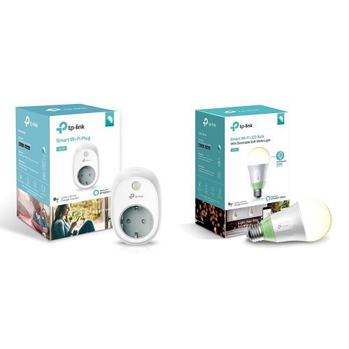 TP-Link Presa Wi-fi HS100 + Lampadina Wi-fi LB110 con Luce Regolabile