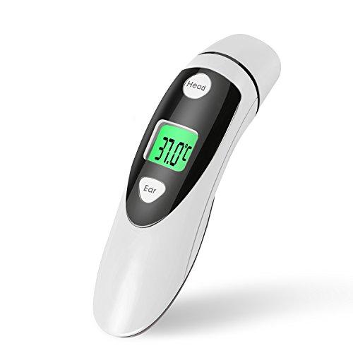 Fieberthermometer Stirnthermometer und Ohrthermometer mit Hintergrundbeleuchtung Genehmigt Infrarot Fieberthermometer von CE & FDA Professionelle In-Ear Digital Thermometer für Baby und Erwachsene