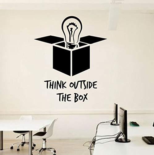 Hwhz 48 X 57 Cm Idee Büro Wandtattoo Zitate Glühbirne Außerhalb Der Box Vinyl Aufkleber Inspirierende Zitate Wandbilder Poster Diy