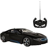 RASTAR - Coche teledirigido 1:14, BMW i8 Negro (ColorBaby 75892)