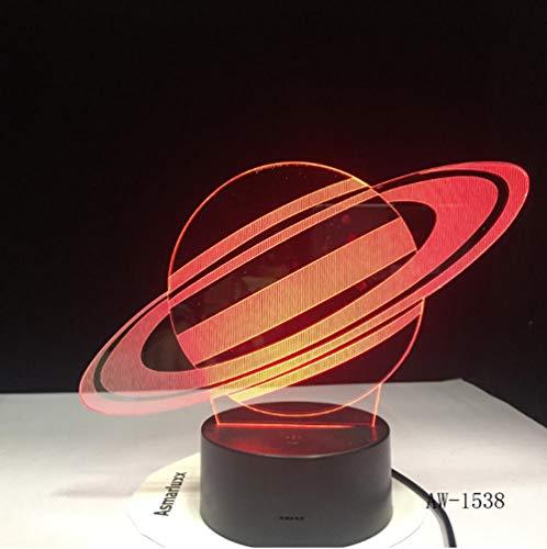 Saturn Tischlampe USB LED 3D Lichter Neuheit LED Nachtlampe als Kinderspielzeug Geschenke