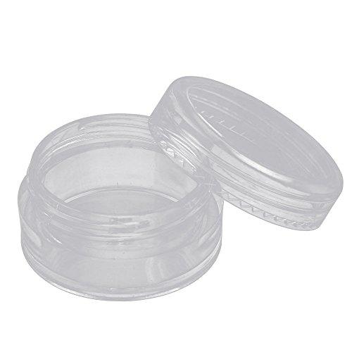 Vococal® 50 Pcs Bouteille Rechargeable Vide Bouteille Crème Cosmétique Maquillage Ombre à Paupières Ongles Poudre Récipient