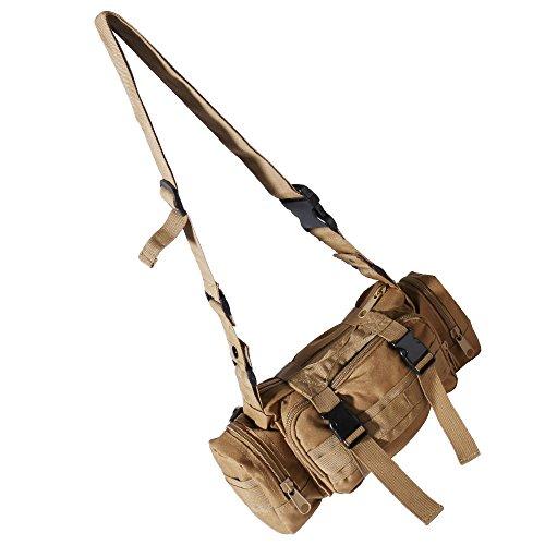 WILLIAM&KATE Multifunktions-Unisex-Taschen Outdoor Taktische Schulter Taille Packs Reisen Sport Camping Wandern Trekking Rucksack Khaki