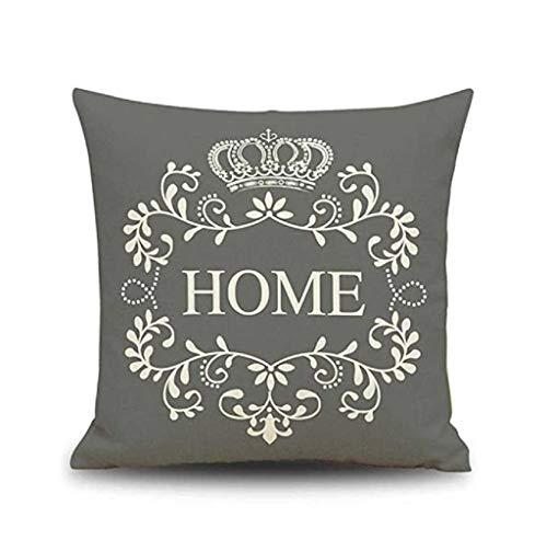 Federa di natale, scpink home letter modello lino cuscino divano sedia car bed decor tiro federa (grigio)