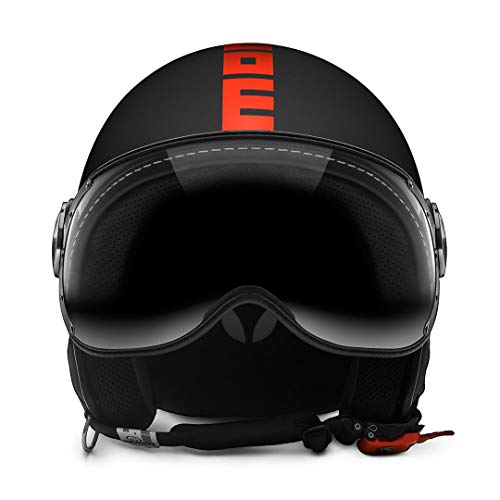MOMO CASCO BLACK MATT/ORANGE FLUO L