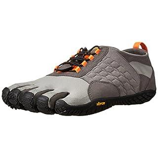Vibram FiveFingers Trek Ascent, Chaussures Multisport Outdoor Homme,  Multicolore (Grey/orange/black), 42