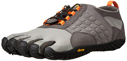 Vibram FiveFingers Trek Ascent, Chaussures Multisport Outdoor Homme,  Multicolore (Grey/orange/black), 43