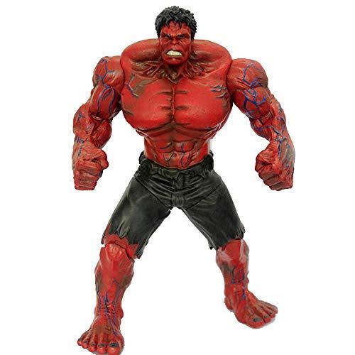 GXHLLYZY Marvel Avengers: Figuras De Acción De Hulk De 11 Pulgadas / 27 Cm (Rojo), Modelo De Juguete para Niños De Hulk (Las Articulaciones Pueden Estar Activas)