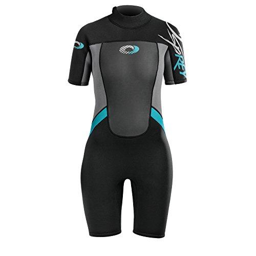 Osprey Sommer-Neoprenanzug, kurz, für Damen, damen, Shorty Origin, blau, Medium/Size 37 (Kurz Wetsuit-medium)